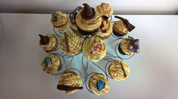Harry Potter butter beer cupcakes for my birthday boy