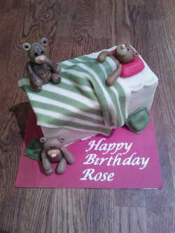 Birthday Battenberg with Bears - Happy Birthday Rose!