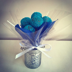 Mother's Day cake pop bouquet, in chocolate