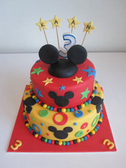 Mickey tiered cake