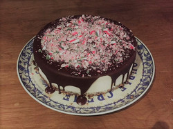 Chocolate Peppermint 'cheese'cake