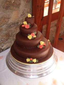 Offset chocolate cake