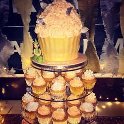 Birthday cupcake stack