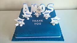 Corporate cake - For Heaven's Cakes doesn't just do novelty, you know! A simple thank you cake is al