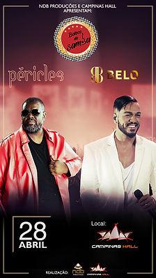 Show Péricles e Belo realizado em Campinas pela NDB Produções e Eventos