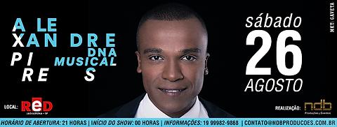 Show Alexandre Pires foi realizado em 28 de agosto pela NDB Produções