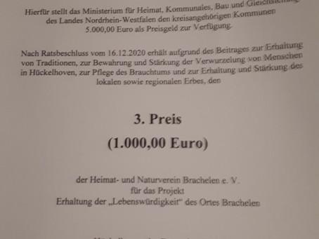 3. Platz beim Heimatpreis der Stadt Hückelhoven