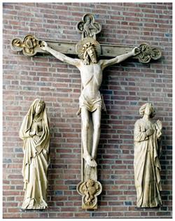 Kirche Innenansicht Kreuz