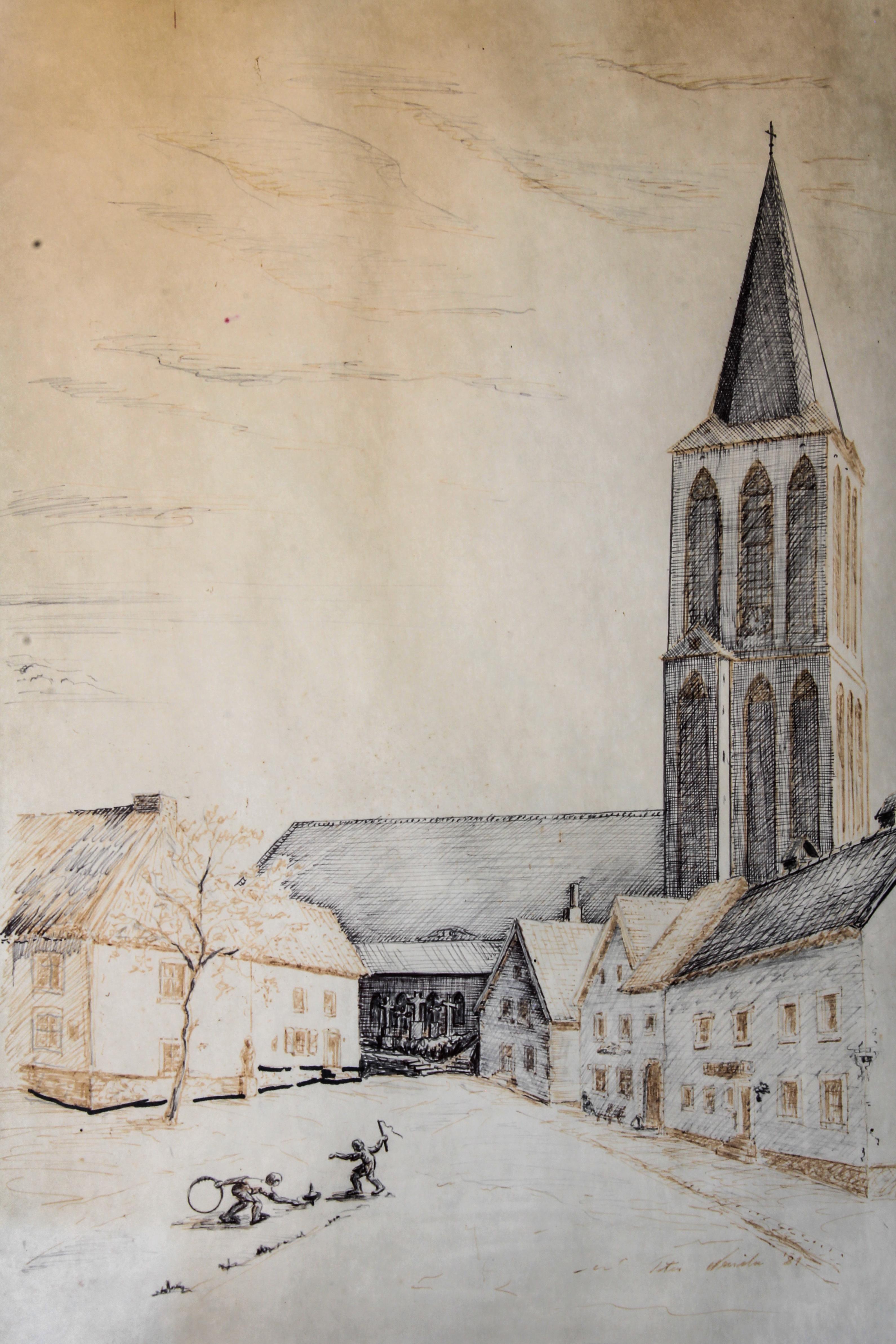Kirche mit Marktplatz
