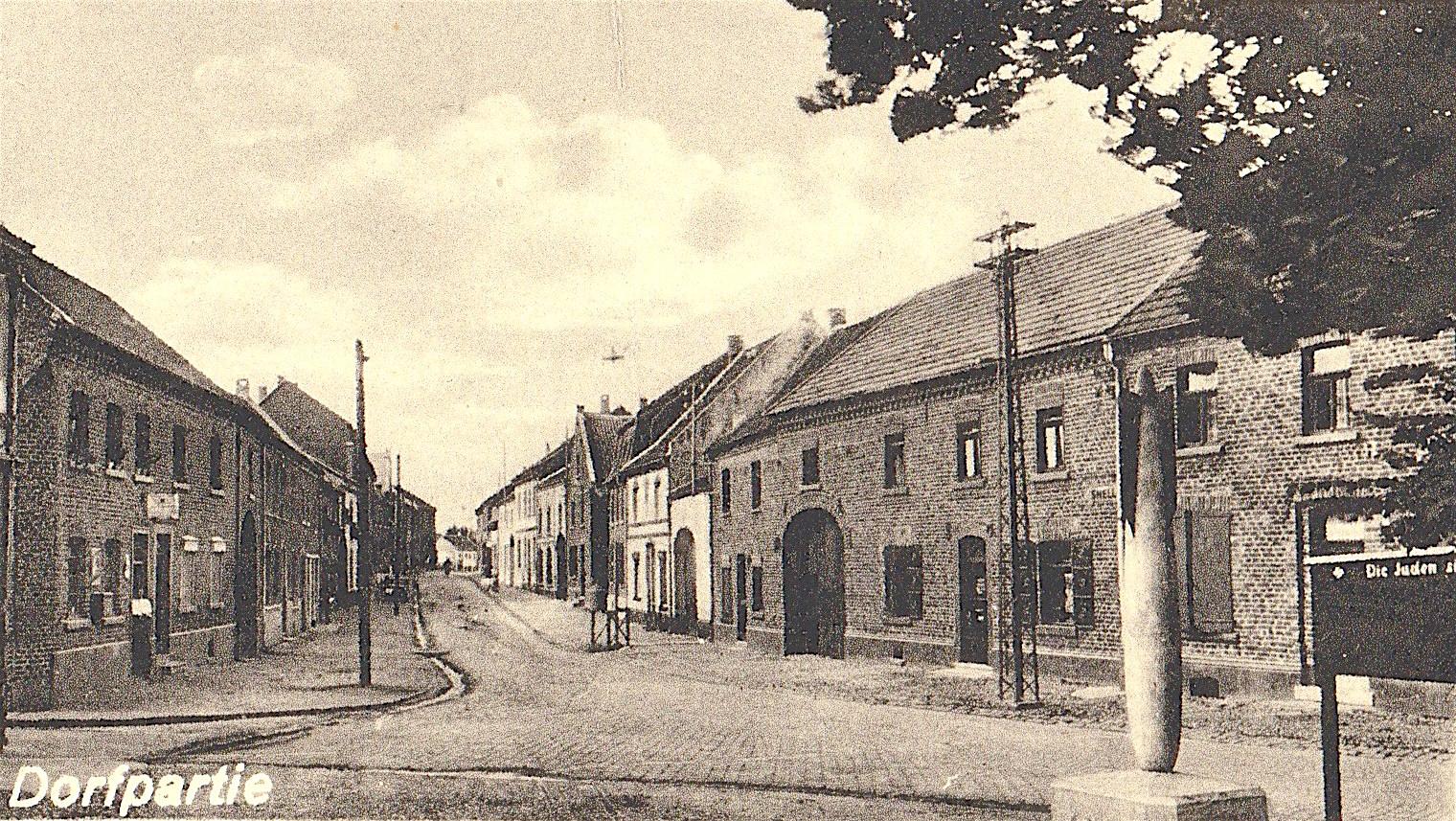Hauptstrasse von oben