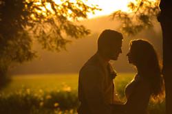 Artistic wedding couple photograph