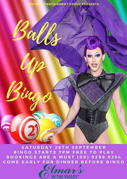 Balls Up Bingo Perth Drag Queen Elmars I
