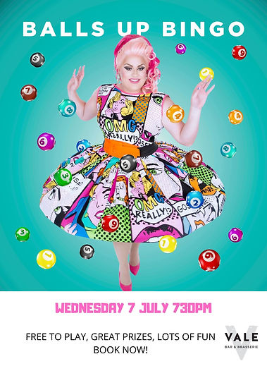 Balls Up Bingo Drag Queen Perth The Vale