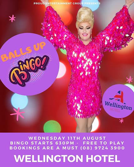 Balls Up Bingo Drag Queen Bunbury Wellington Hotel