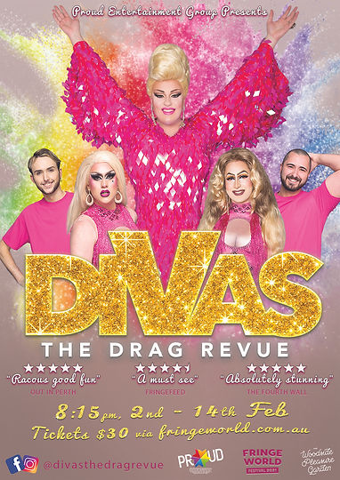 DIVAS The Drag Queen Revue Perth Fringe