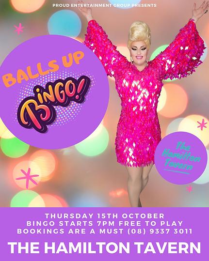 Balls Up Bingo Perth Drag Queen Hamilton