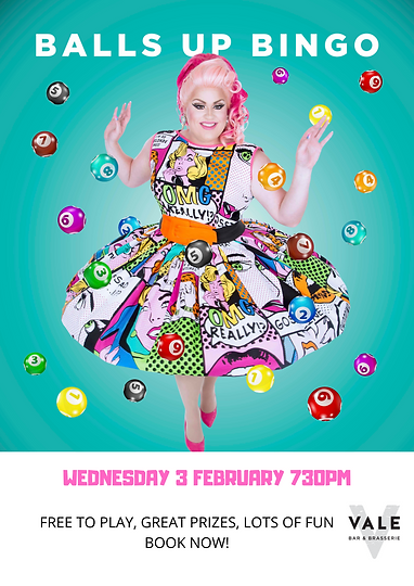 Balls Up Bingo Perth Drag Queen The Vale