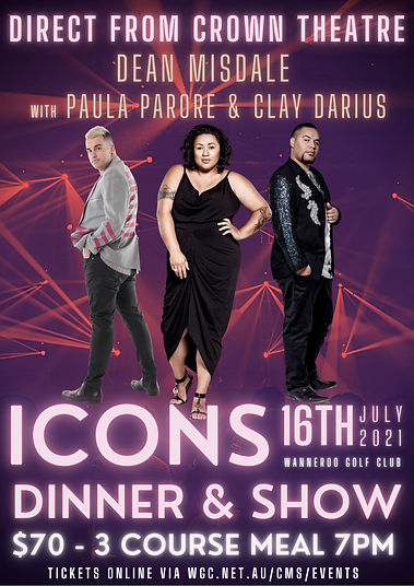 Icons Dinner Show Dean Misale