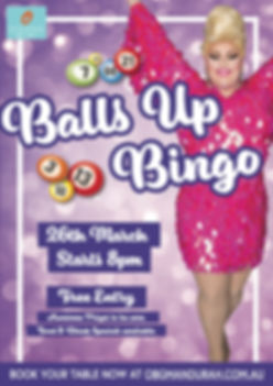 Oceanic Bar & Grill Balls Up Bingo
