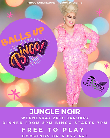 Balls Up Bingo Drag Queen Jungle Noir