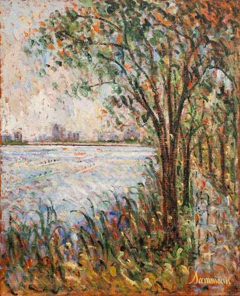 "Samir Sammoun, ""Head of the Charles, Promenade"""