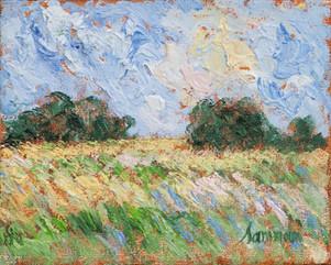 "Samir Sammoun, ""Field, Laprairie Study"""