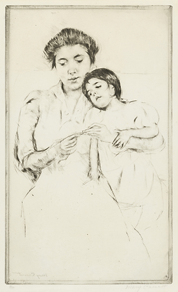 Mary Cassatt - The Crocheting Lesson