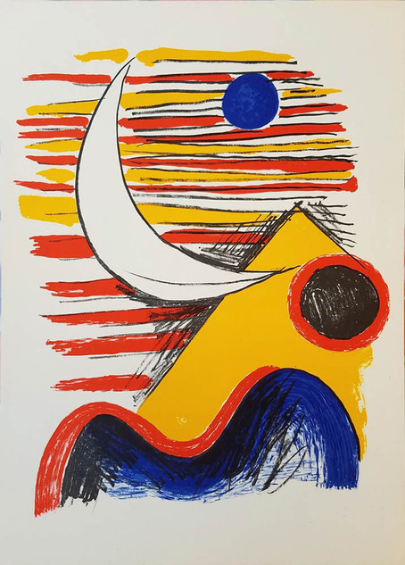 """Alexander Calder """"La Lune et Montagne Jaune"""""""
