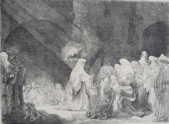 Rembrandt Harmensz Van Rijn - Simeons Hymn of Praise