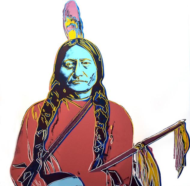 """Andy Warhol, """"Sitting Bull"""""""