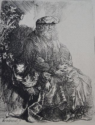 Rembrandt Harmensz Van Rijn - Jacob Caressing Benjamin