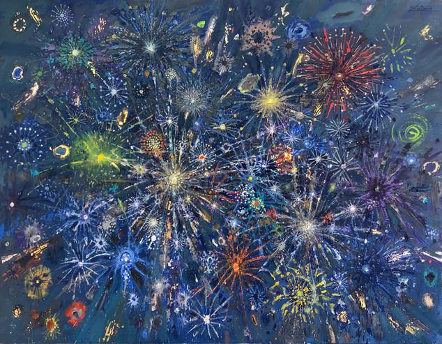 Fireworks Green Comets