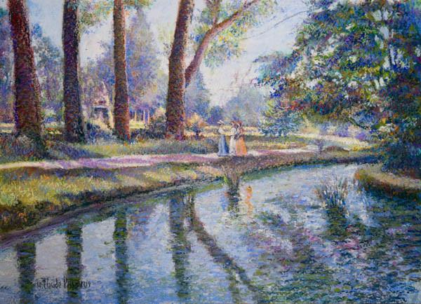 """H. Claude Pissarro, """"Le Jardin du Thabor (Rennes)"""""""