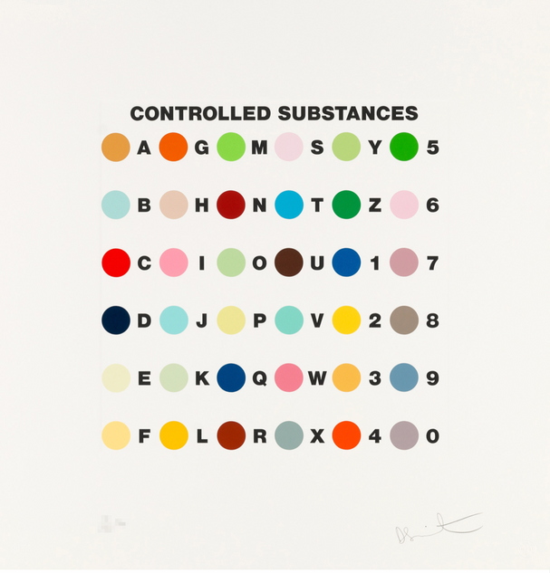 "Damien Hirst, ""Controlled Substances Key Spot"""