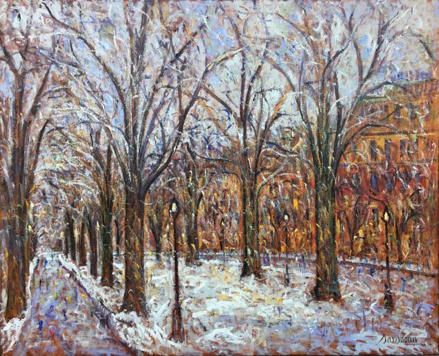 "Samir Sammoun ""Commonwealth Avenue, Snow"""