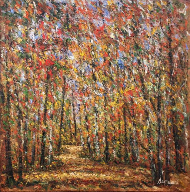 "Samir Sammoun ""Birches, Autumn"""