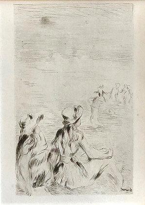 Pierre Auguste Renoir - Sur La Plage, A Berneval