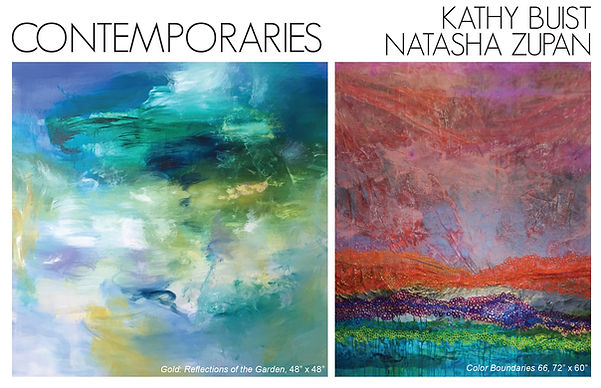 Contemporaries: Kathy Buist & Natasha Zupan at Galerie d'Orsay