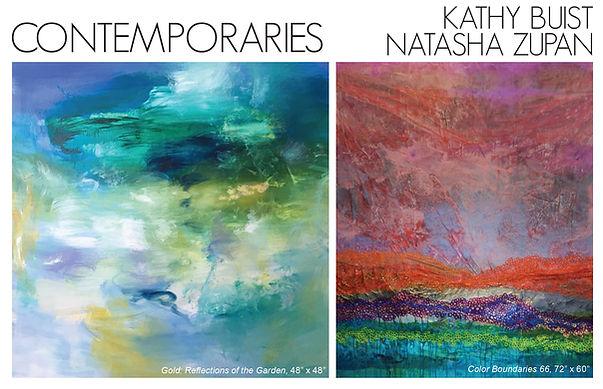 Contemporaries: Kathy Buist & Natasha Zupan at Galerie d'Orsay