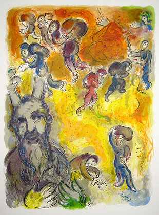 Marc Chagall - Moses Sees the Sufferings of His People