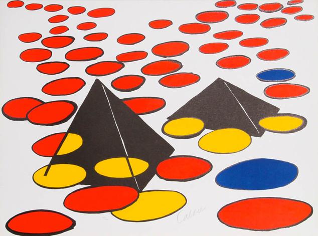 "Alexanader Calder ""Black Pyramids"""