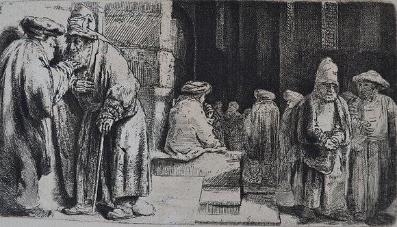 Rembrandt Harmensz Van Rijn - Pharisees in the Temple