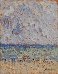 "Samir Sammoun,""At the Beach Study"""