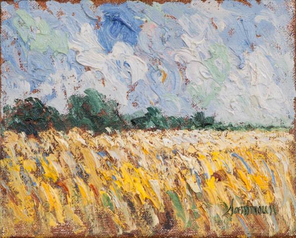 """Samir Sammoun, """"Wheat Field, Laprairie Study"""""""