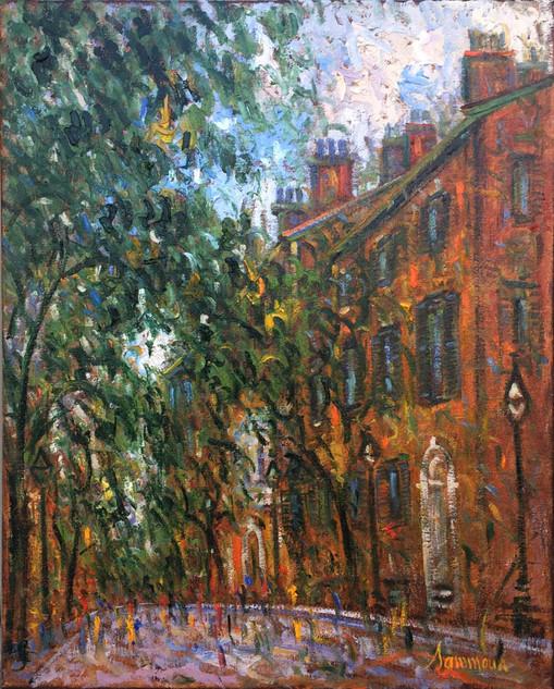 """Samir Sammoun """"Boston, Beacon Hill, Pinckney Street"""""""