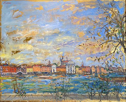 Bruno Zupan - View of Gesuati from Giudecca