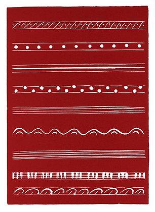 Henri Matisse - BANDEAUX EN ROUGE (Variant III)