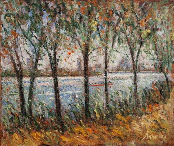 """Samir Sammoun, """"Head of the Charles, view from the south side"""""""