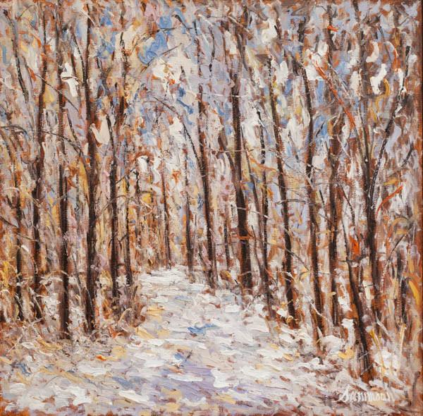 "Samir Sammoun, ""Promenade, neige"""