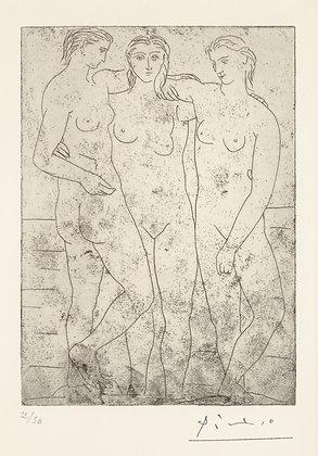 Pablo Picasso - LES TROIS BAIGNEUSES II